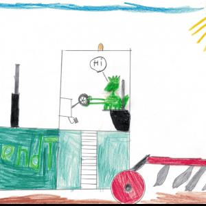 Zeichnung von Felix, 8 Jahre aus Bayern in Deutschland